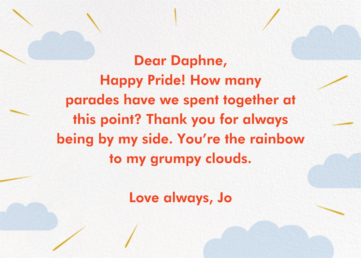 Love from Above - Paperless Post - Pride - card back