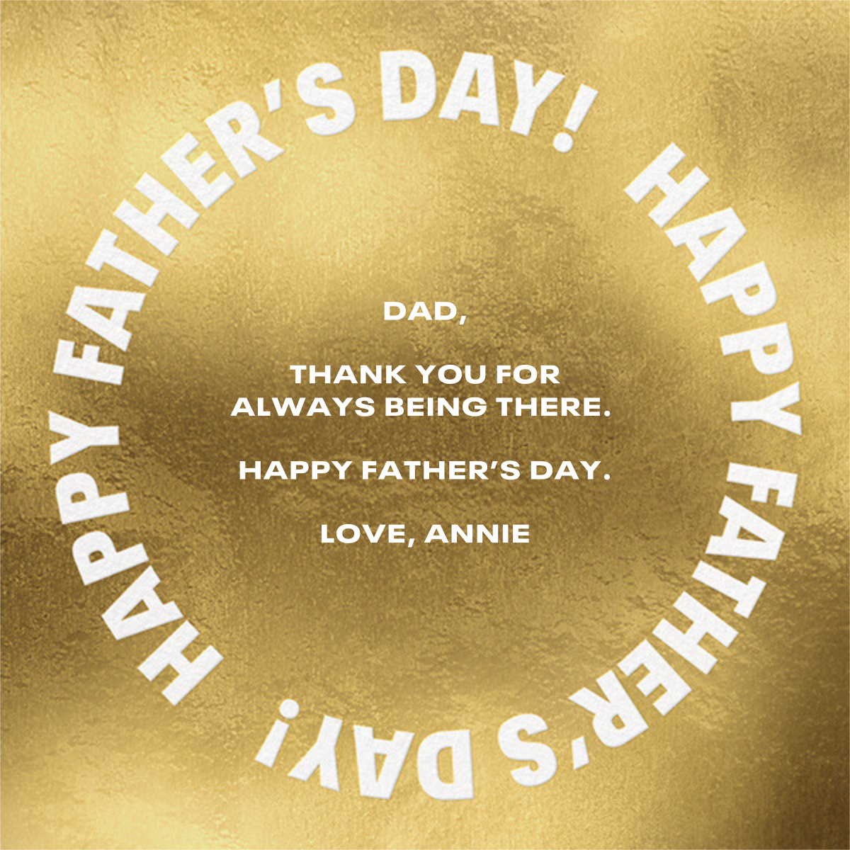 Gold Record - Paperless Post - Father's Day - card back