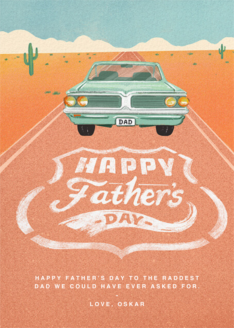 Vanity Plate - Paperless Post - Father's Day