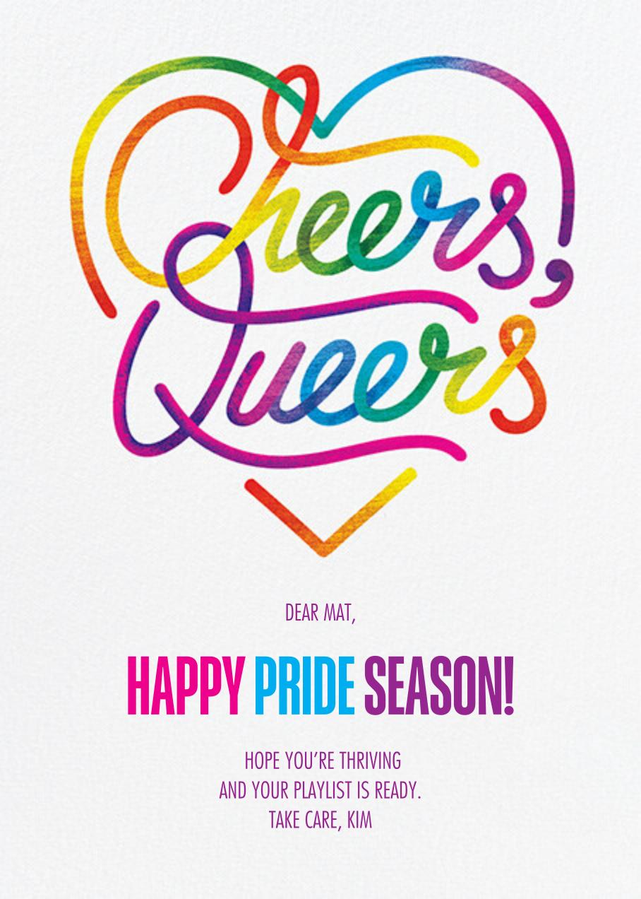 Rainbow Cheers - Paperless Post - Pride