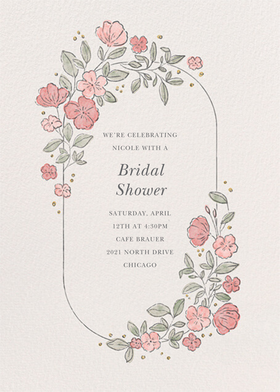 Antique Flowers - Paperless Post - Bridal shower