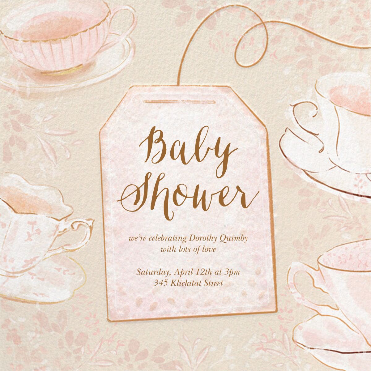 Sipping Tea - Paperless Post - Baby shower