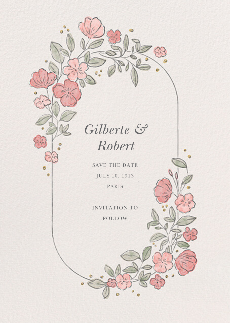 Antique Flowers - Paperless Post - Save the date
