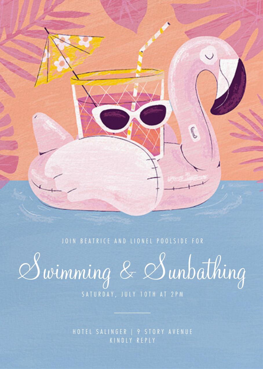 Flamingo Floatie - Paperless Post - Pool party