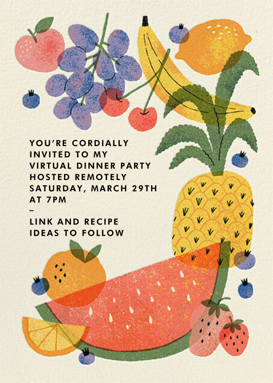 Loose Fruit - Paperless Post - Dinner party