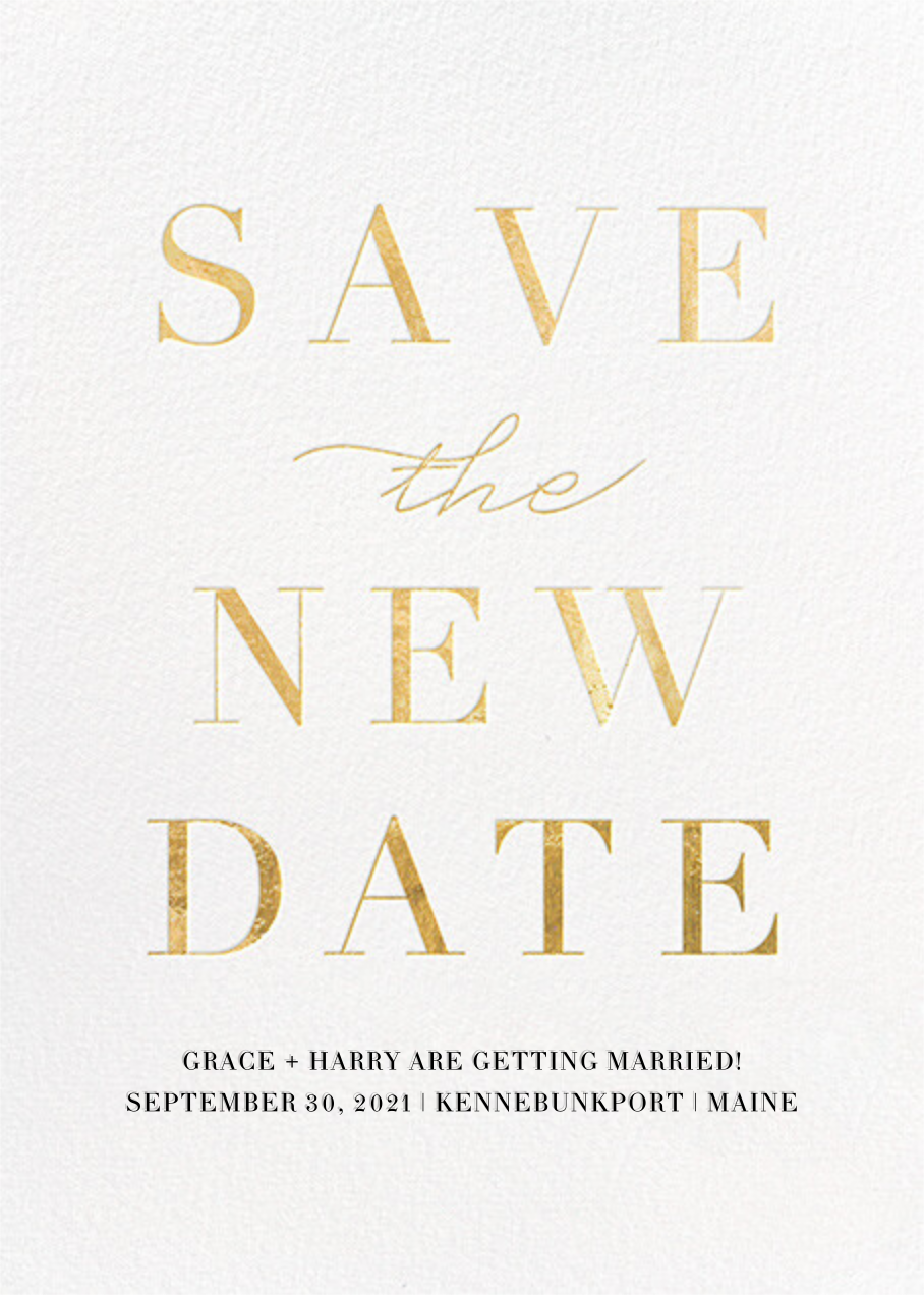 Remnant (New Date) - Gold - Paperless Post - Save the date