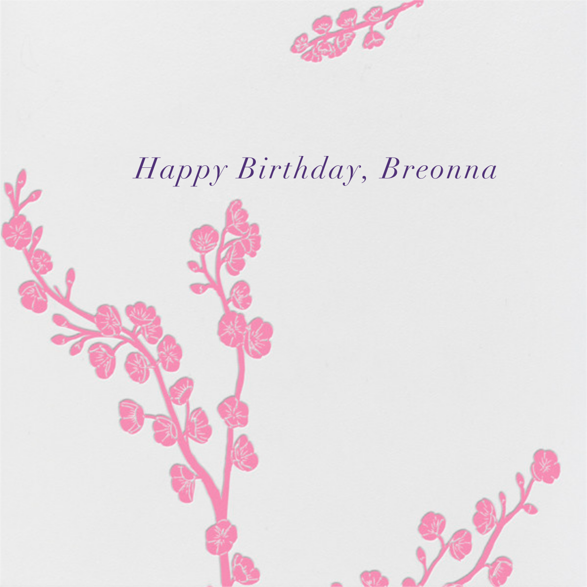 Cherry Blossoms - Paperless Post - Breonna Taylor birthday cards
