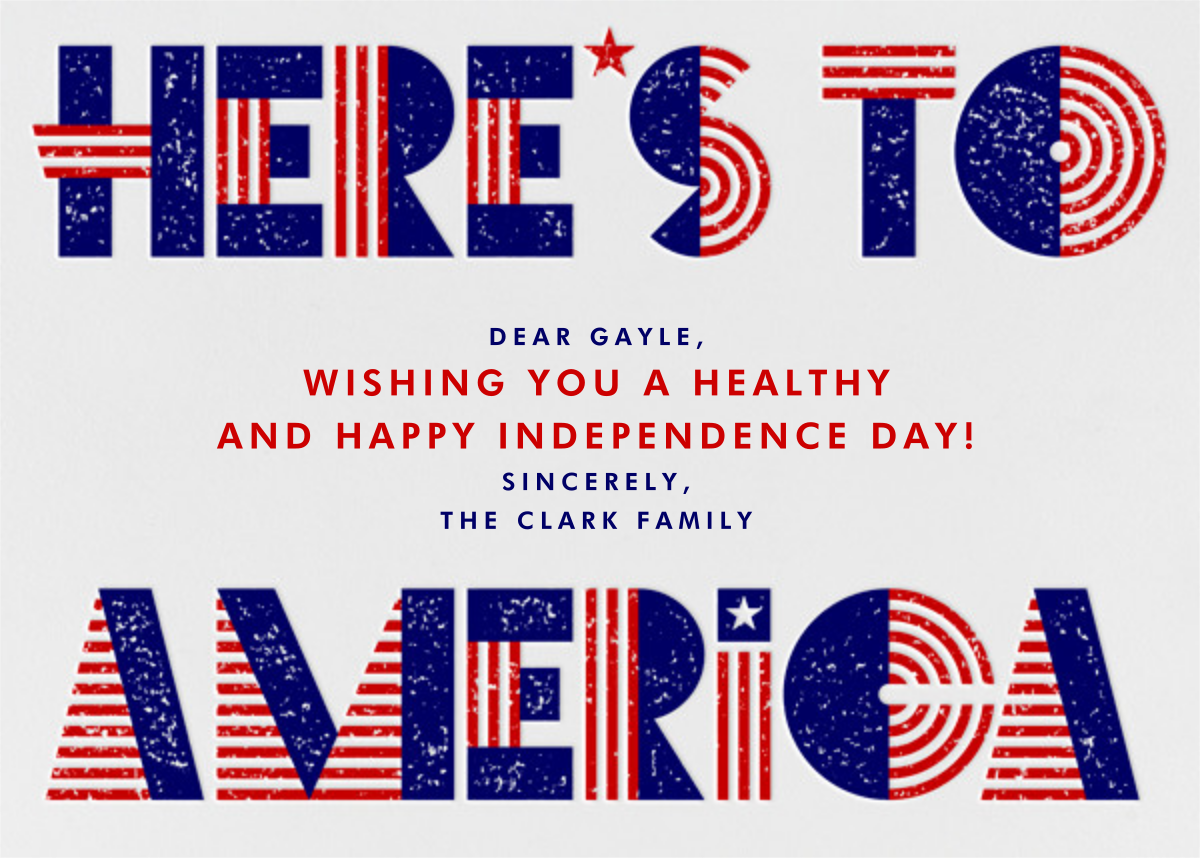 Cheers, America - Paperless Post - 4th of July