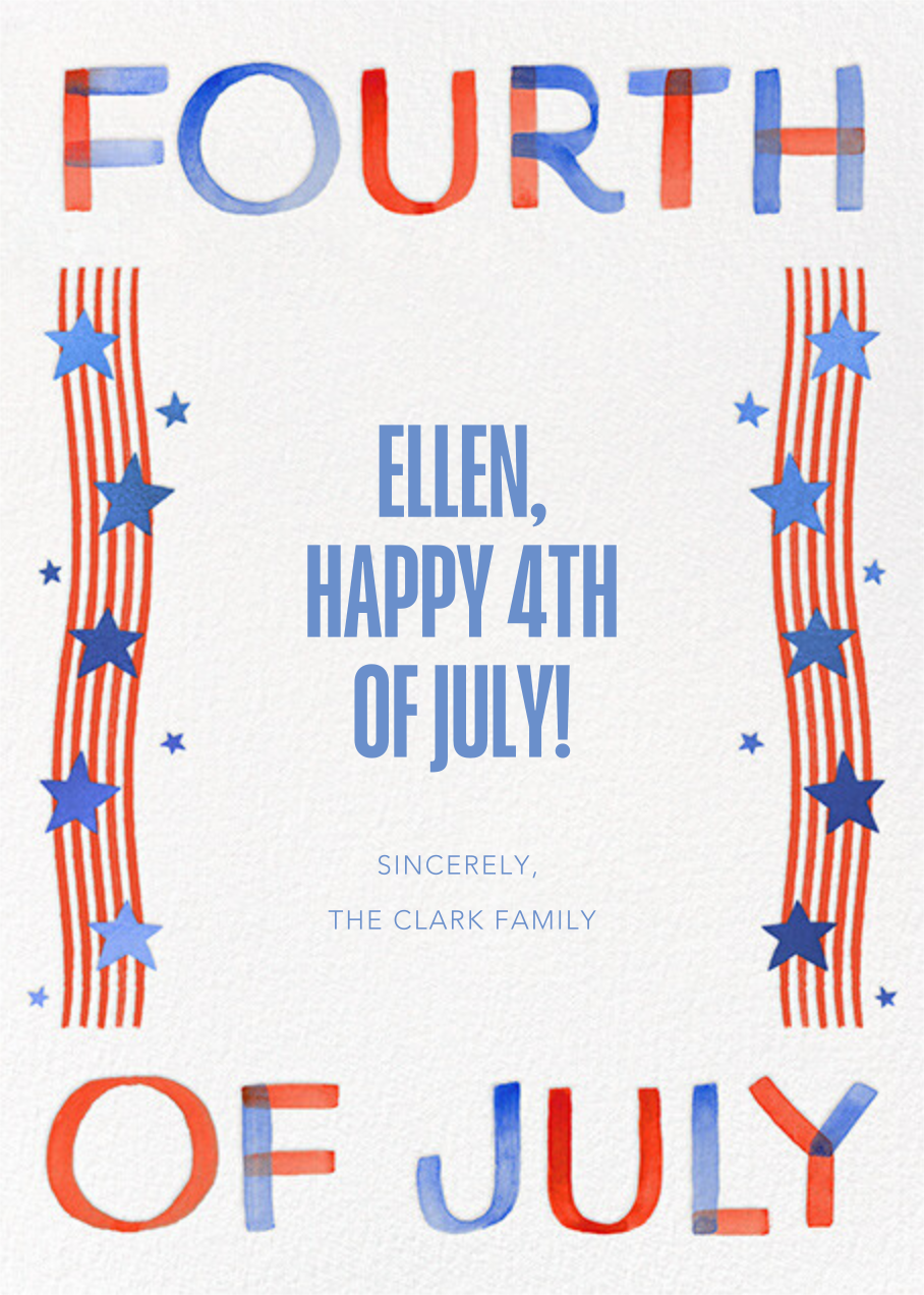 Stars and Squiggles - Paperless Post - 4th of July