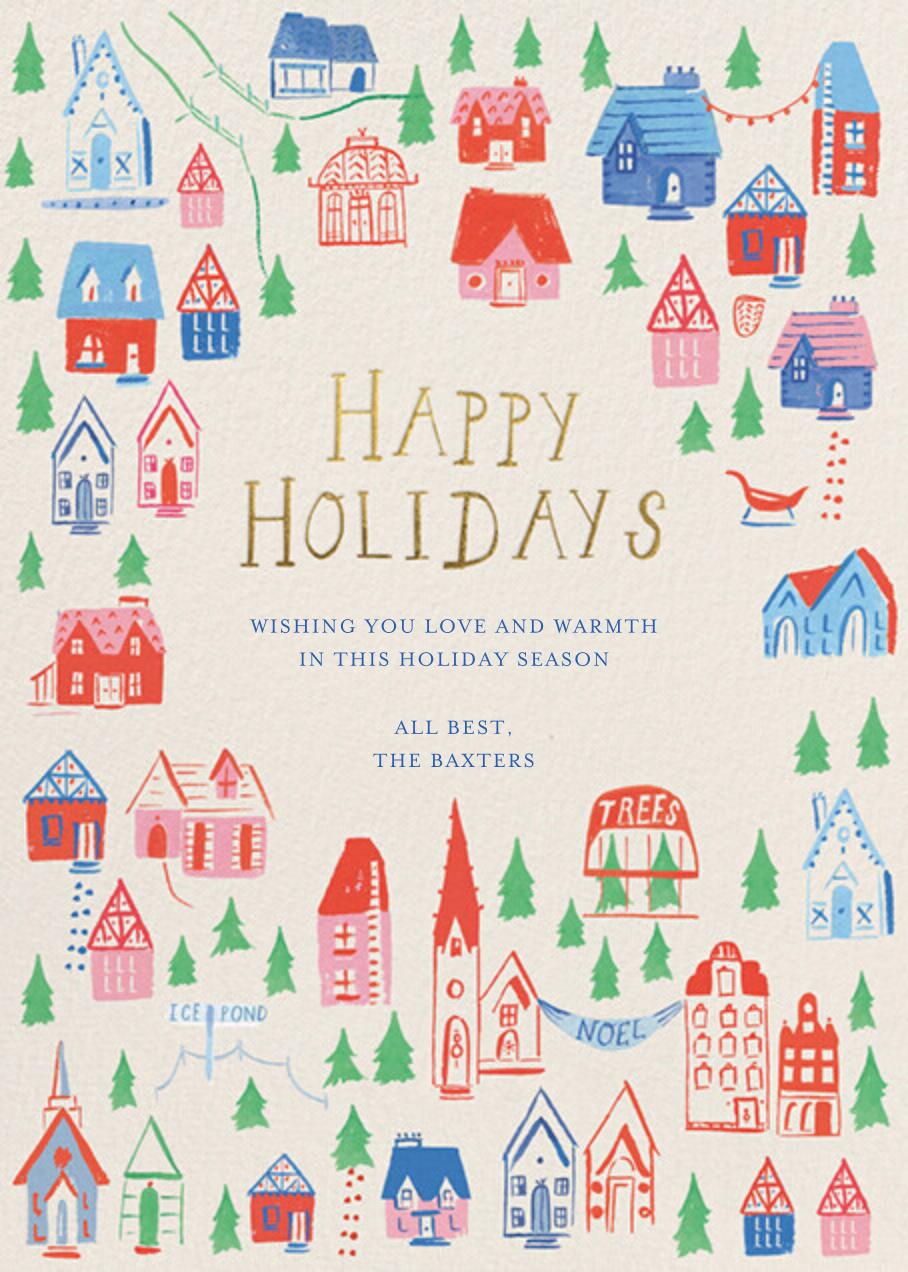 Holiday Hillside - Greeting - Mr. Boddington's Studio