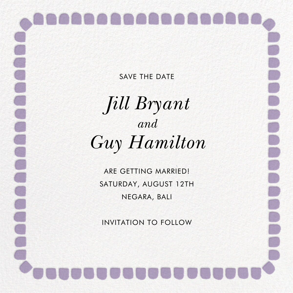 Gumdrop Border - Orchid - kate spade new york - Save the date