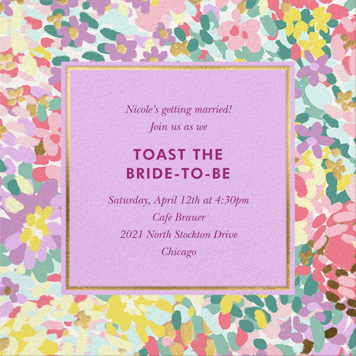 Painted Posies - Wisteria - kate spade new york - Bridal shower
