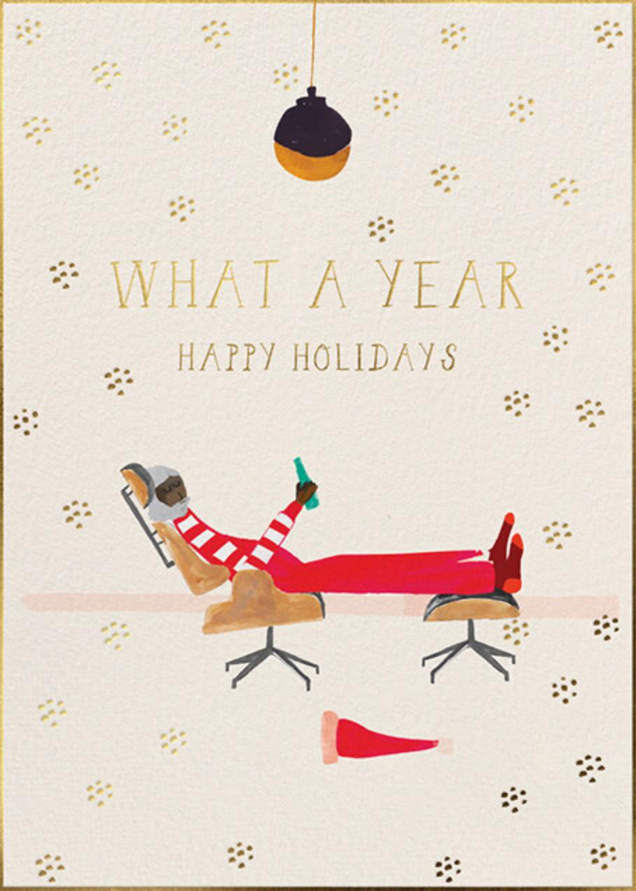 Santa's Slumber - Deep - Mr. Boddington's Studio - Holiday cards