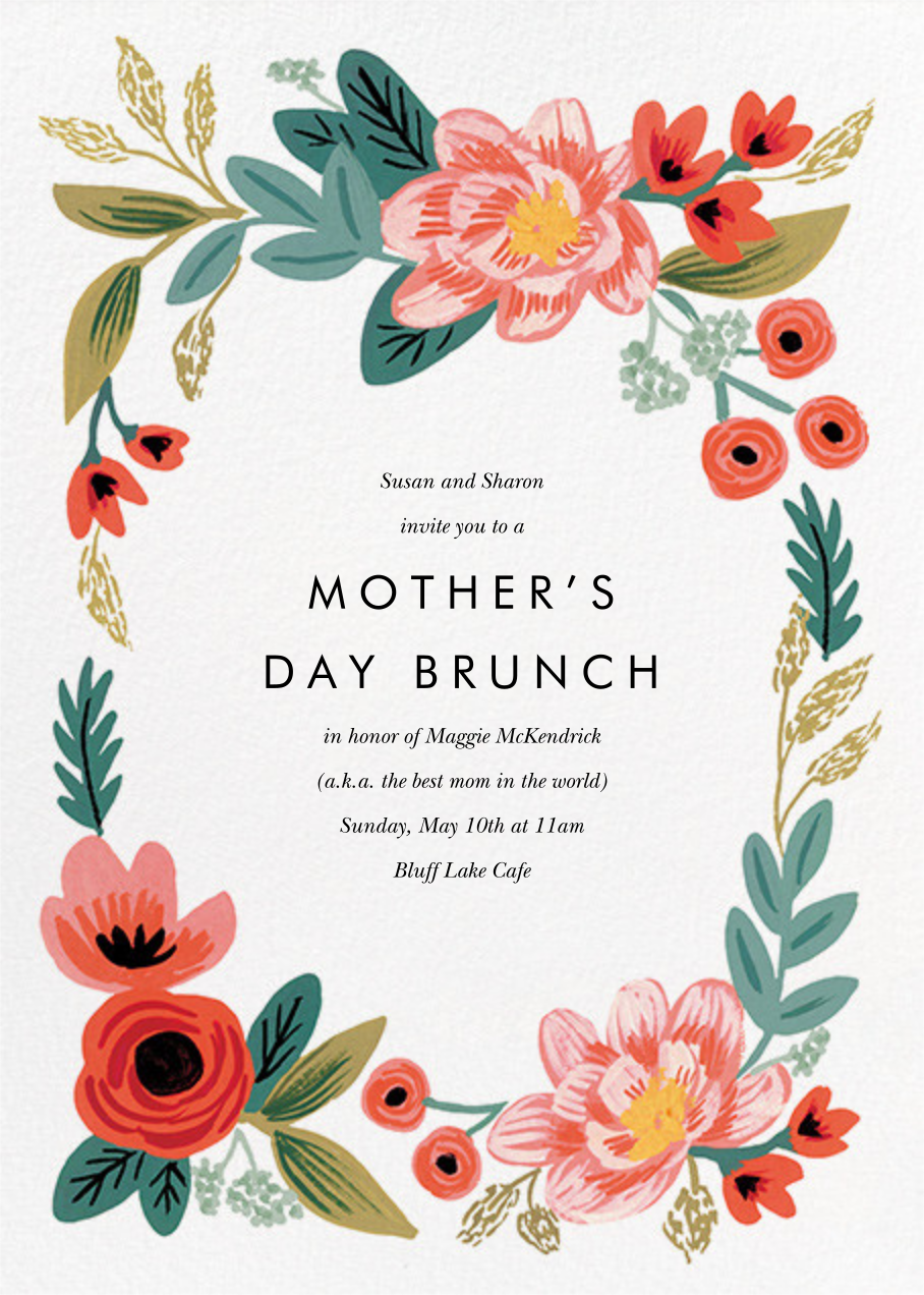 Woven Wildflowers - White - Rifle Paper Co. - Mother's Day