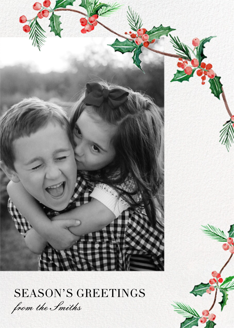 Holly Days - Paperless Post - Holiday cards