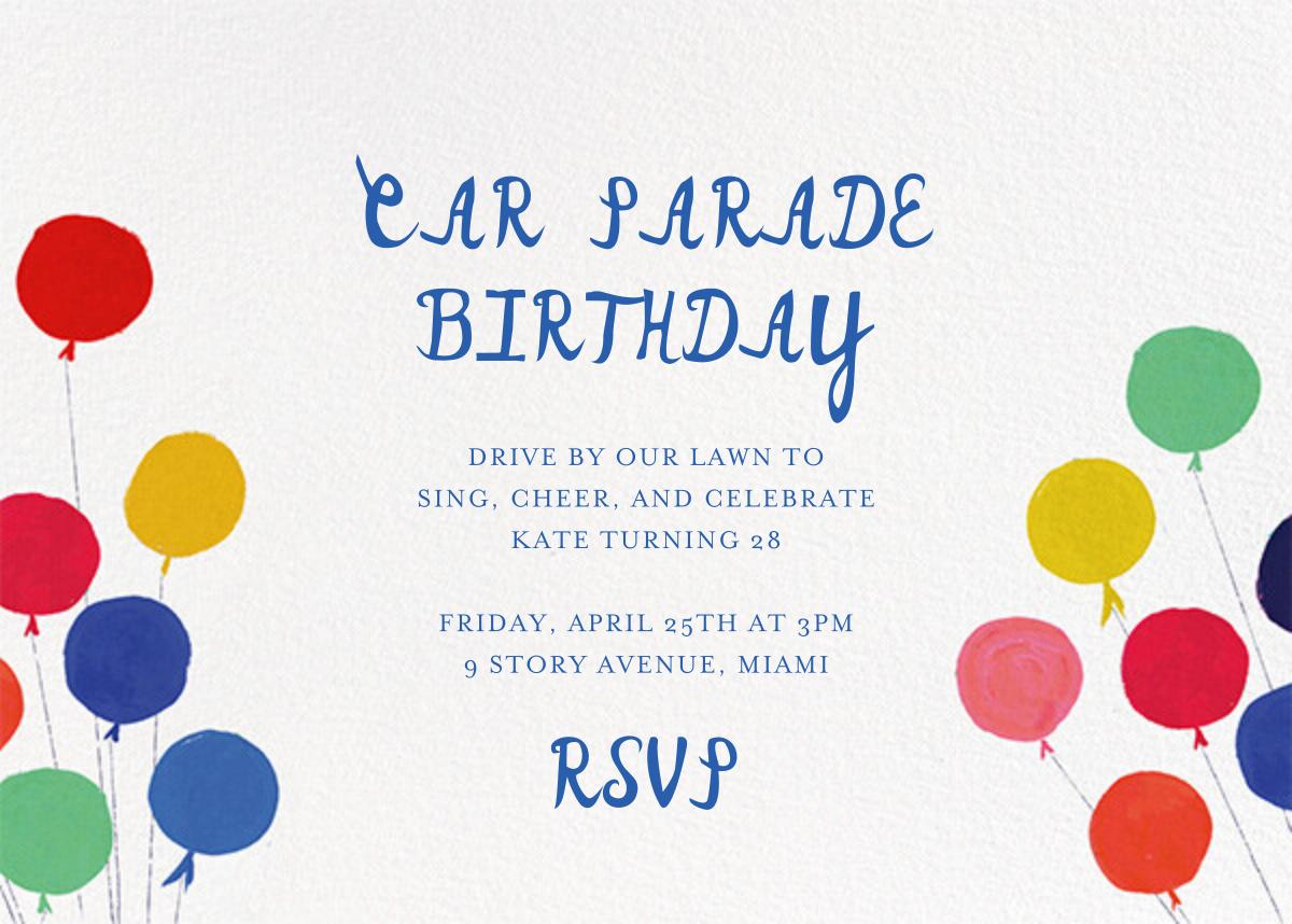Balloons for the Bug (Invitation) - Mr. Boddington's Studio - Adult birthday - card back