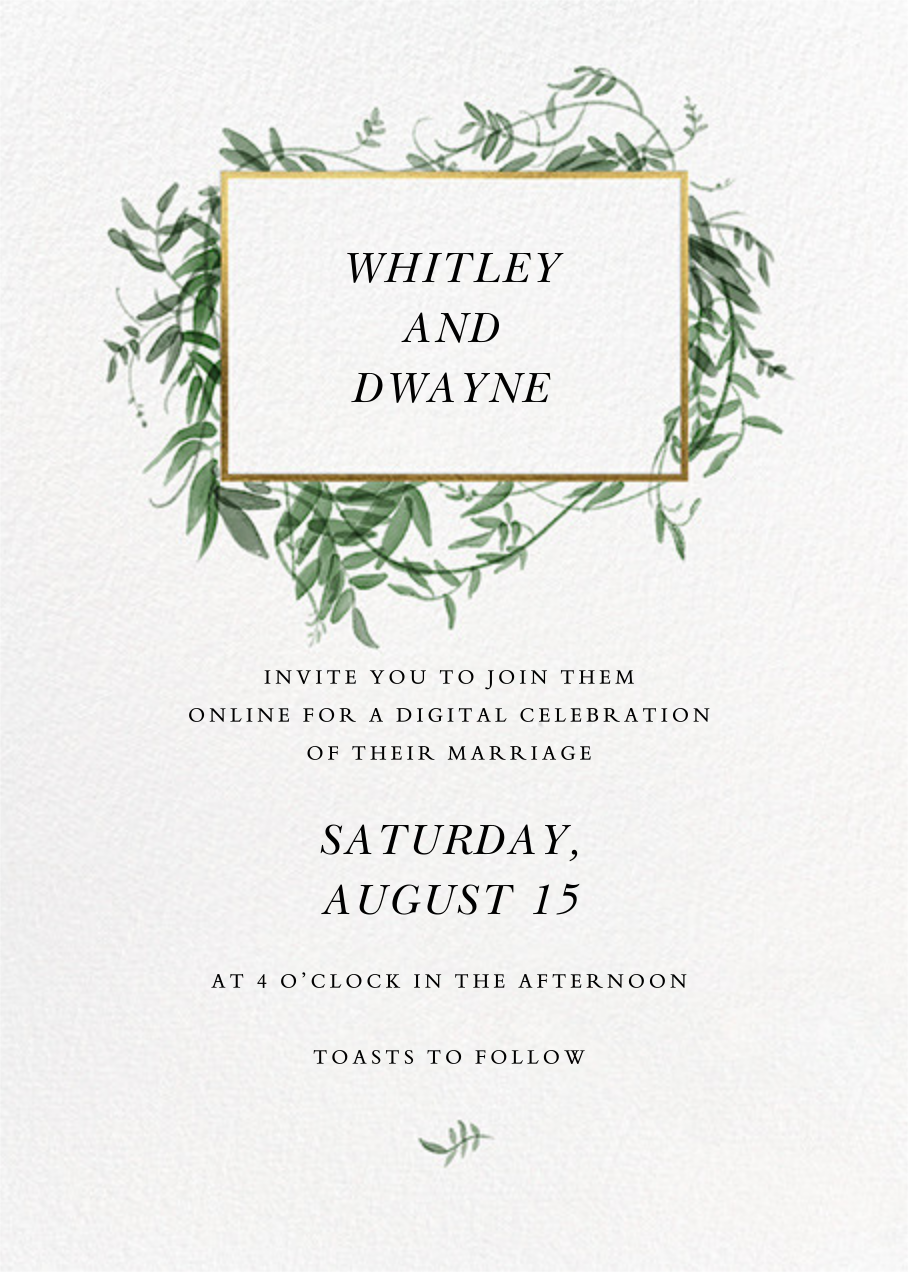 Thirlmere (Invitation) - Paperless Post - Virtual wedding