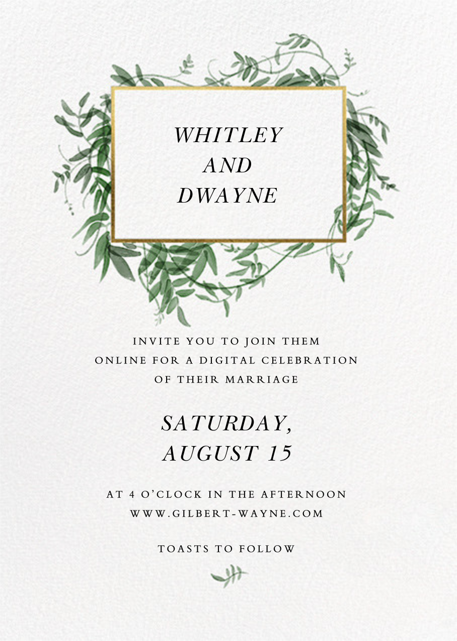 Thirlmere (Invitation) - Paperless Post - Virtual wedding invitations
