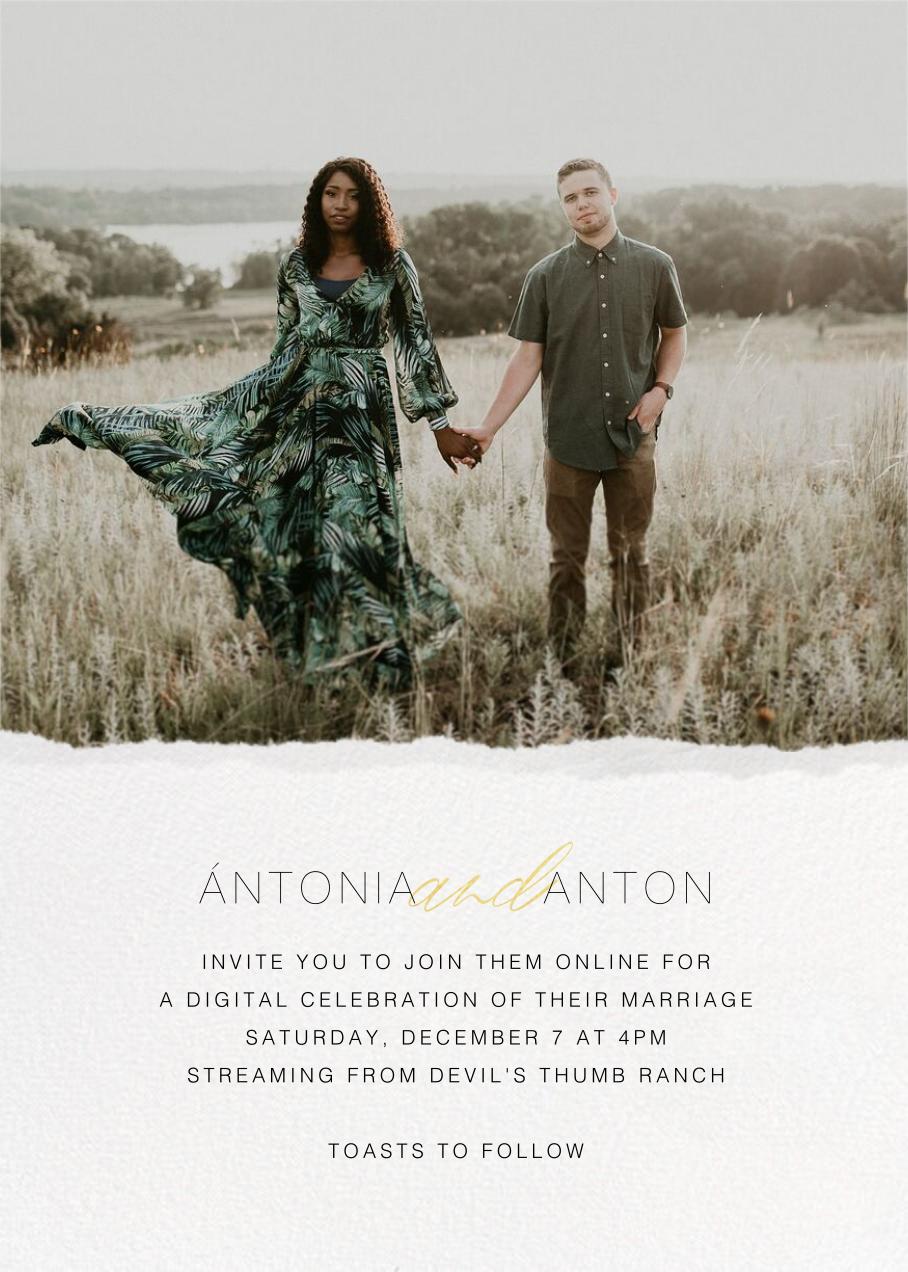 Raw Edge (Invitation) - Paperless Post - Virtual wedding