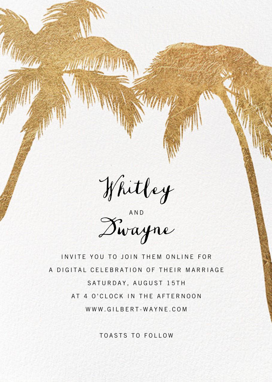 Tropical Palm - White - Paperless Post - Virtual wedding