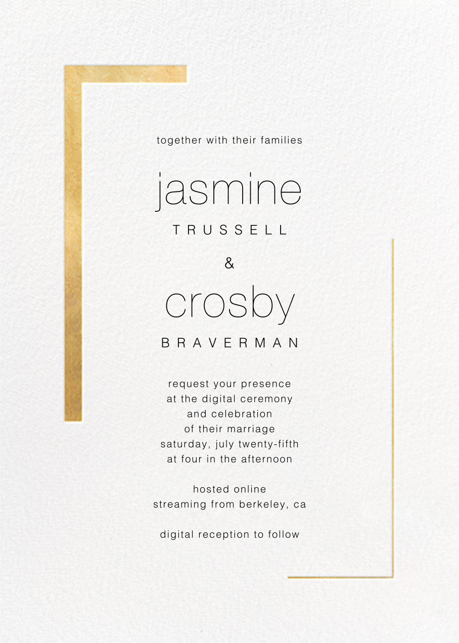 Ando (Invitation) - Gold - Paperless Post - Virtual wedding