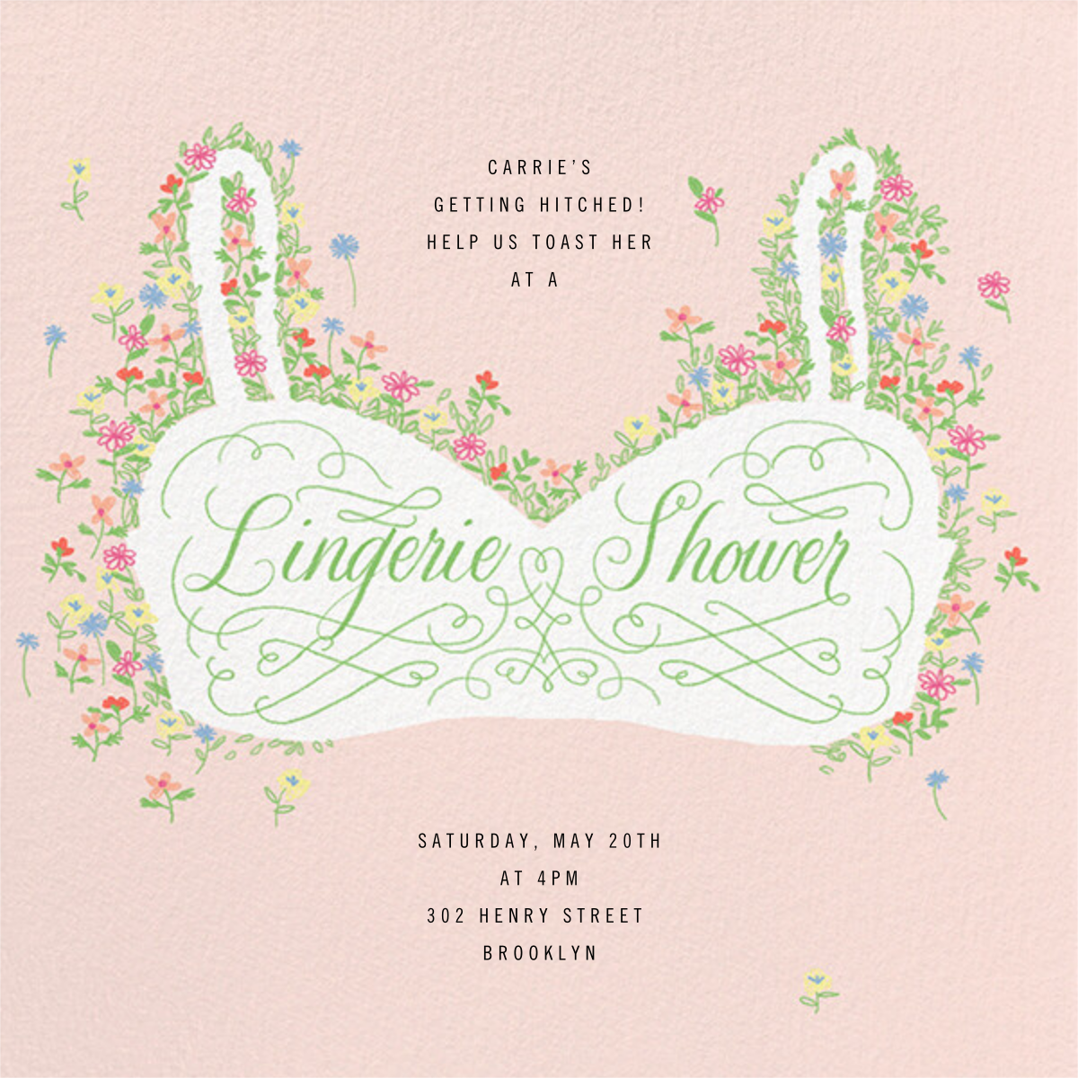Floral Support - Lingerie - Paperless Post - Bridal shower