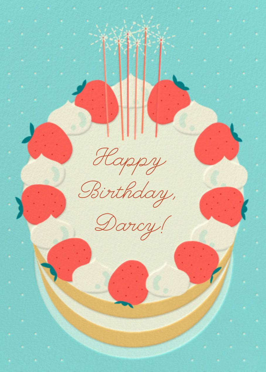 Strawberry Cream Cake - Paperless Post - Birthday
