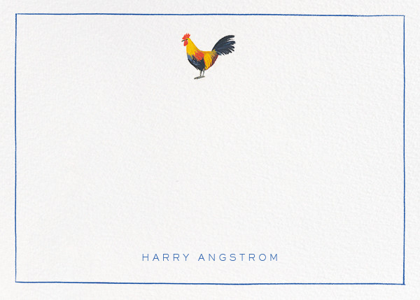 Red Rooster - Paperless Post - Personalized stationery