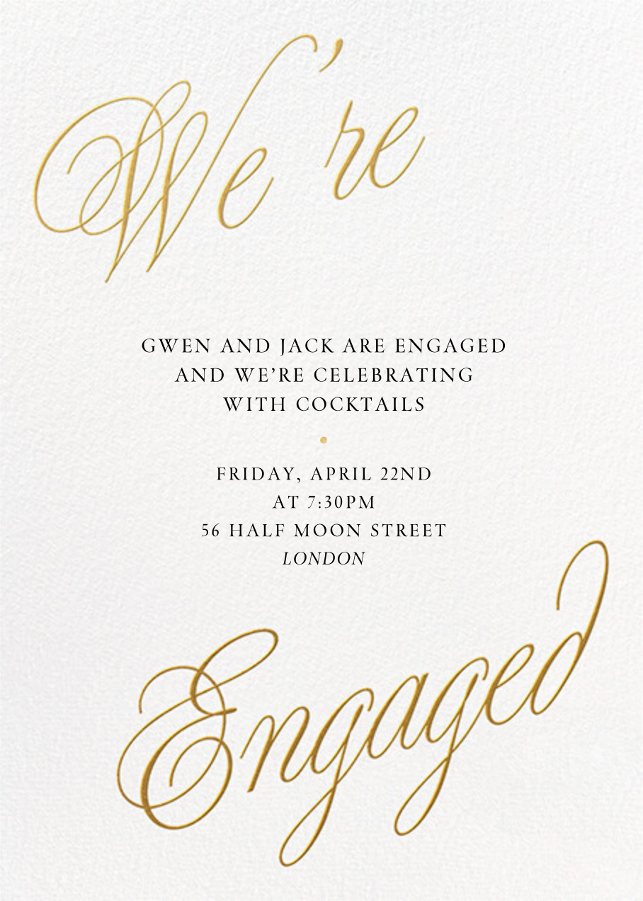 Grand Plans - Paperless Post - Engagement party