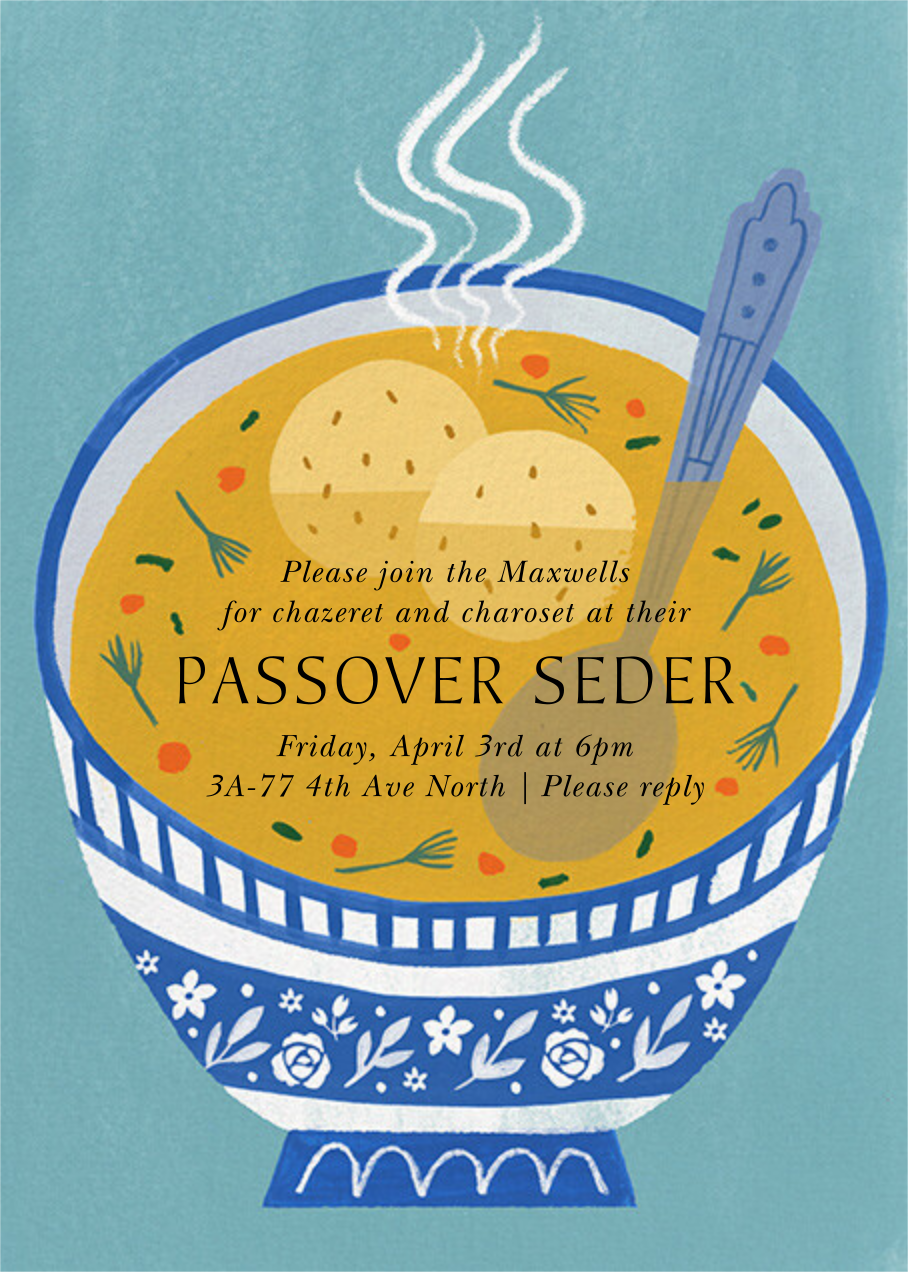 Seder Soup - Paperless Post - Passover