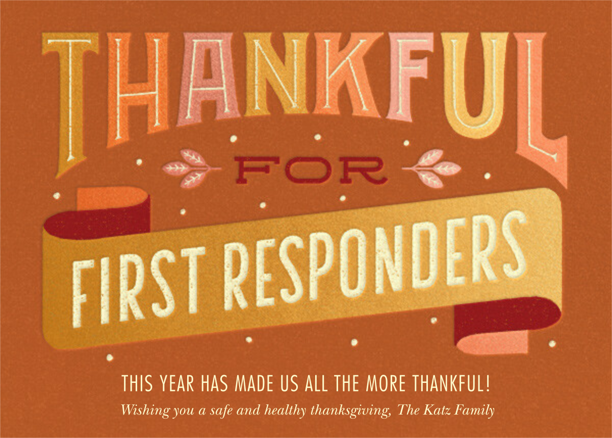 First Responders - Paperless Post - Thanksgiving