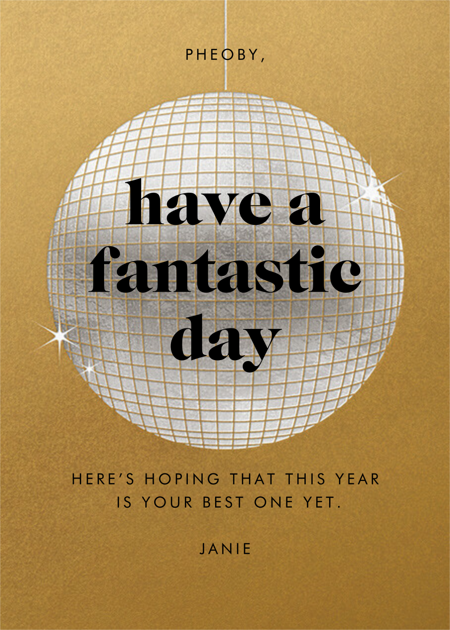 Have a Ball - Gold - Paperless Post