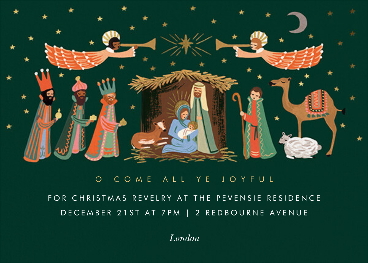 Evergreen Nativity - Rifle Paper Co. - Christmas party