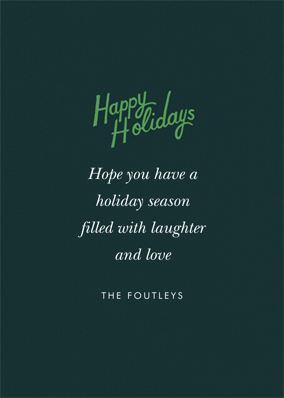 Holiday Tree Farm Photo - Rifle Paper Co. - Holiday cards - card back