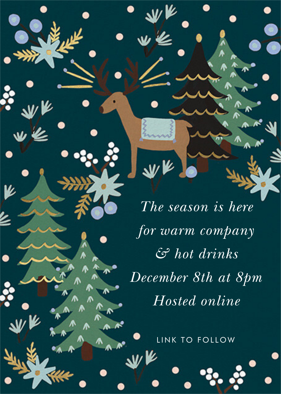 Twinkling Reindeer - Rifle Paper Co. - Holiday party