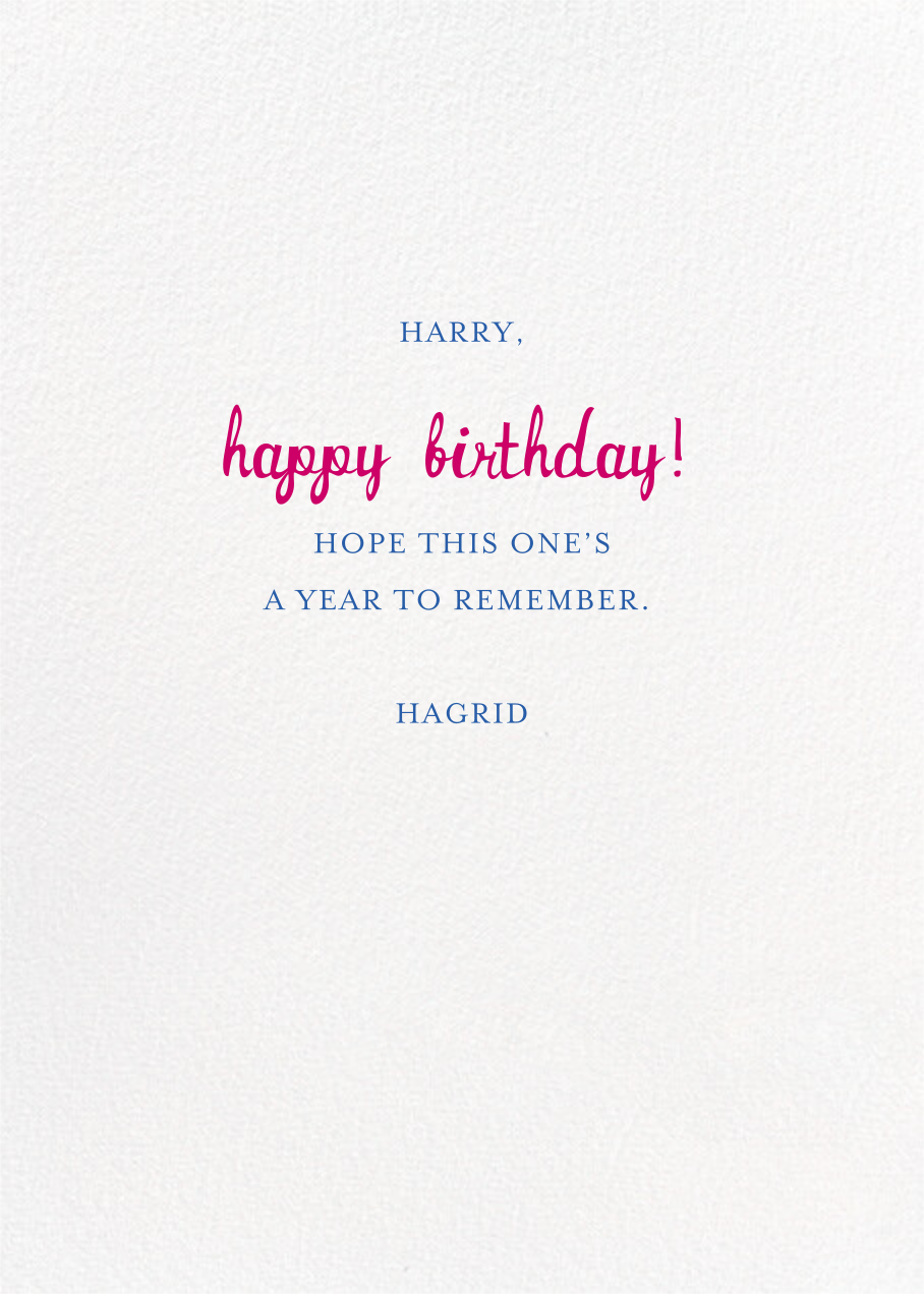 Special Delivery - Deep - Mr. Boddington's Studio - Birthday - card back