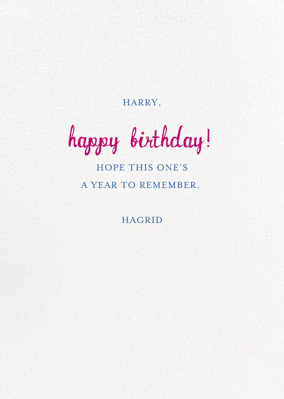 Special Delivery - Light - Mr. Boddington's Studio - Birthday - card back