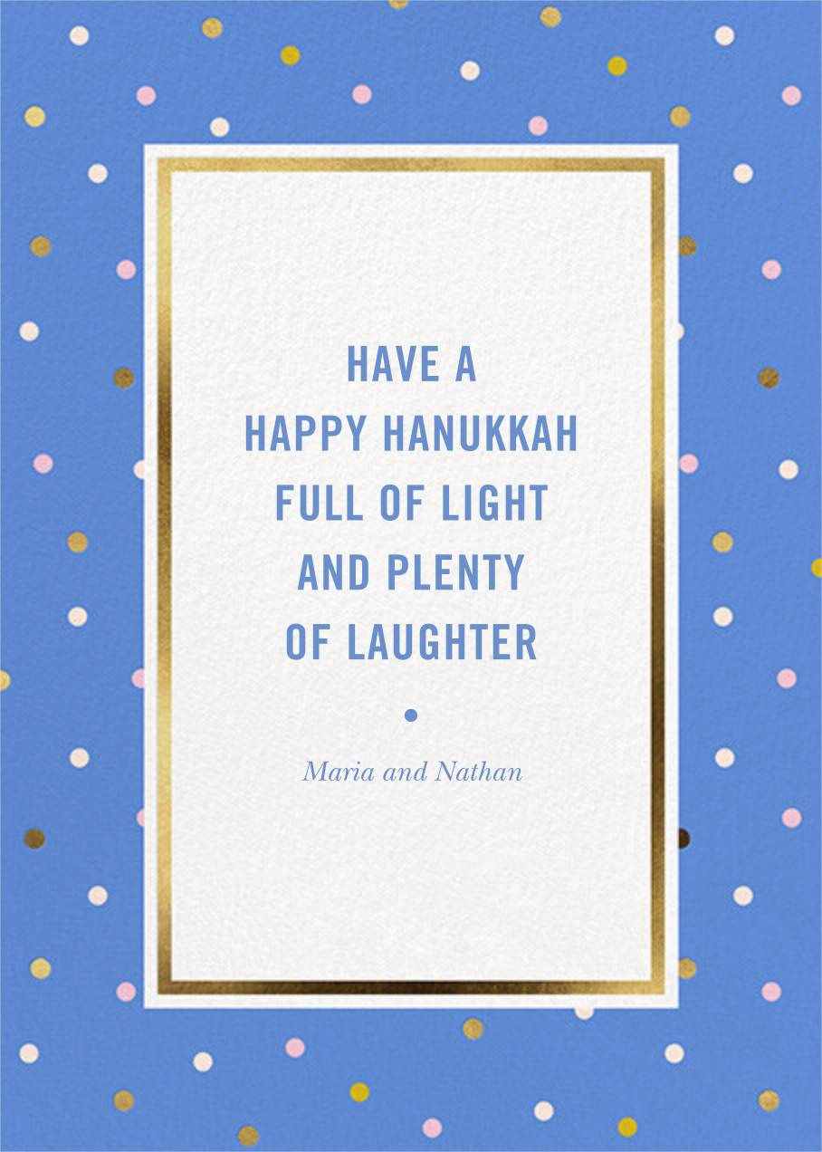 Wrapping Paper Photo - Antwerp - kate spade new york - Hanukkah - card back