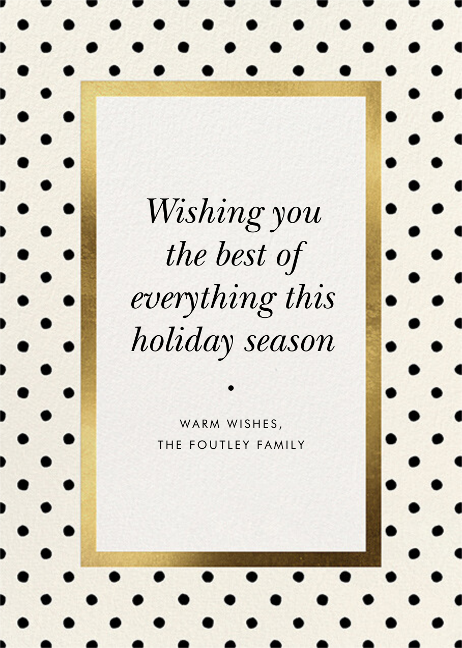 Perfect Spots - Cream - kate spade new york - Holiday cards