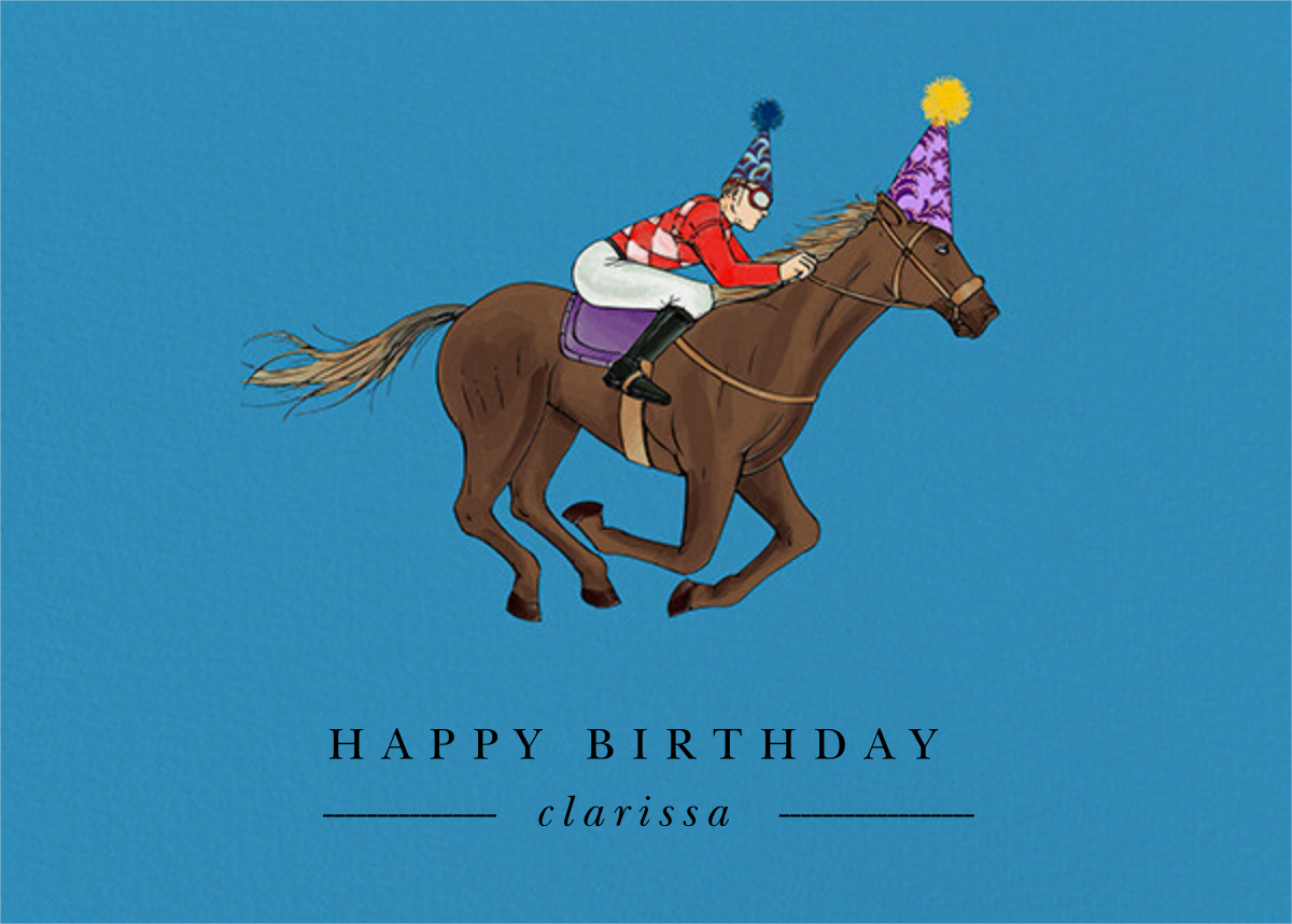 Thoroughbred Birthday - Robin'sEgg/Fair  - Paperless Post