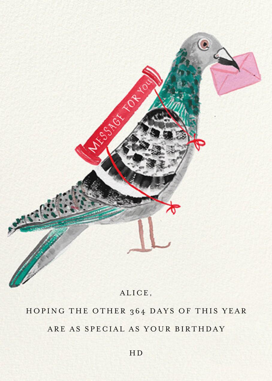 Carrier Pigeon - Mr. Boddington's Studio - Birthday