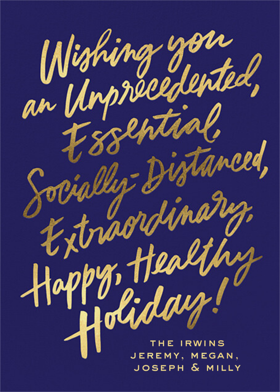 Gold Notes - Royal Blue - Cheree Berry - Holiday cards