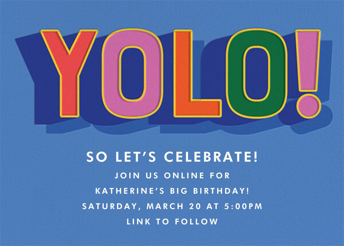 Bold Yolo - Cheree Berry - Adult birthday