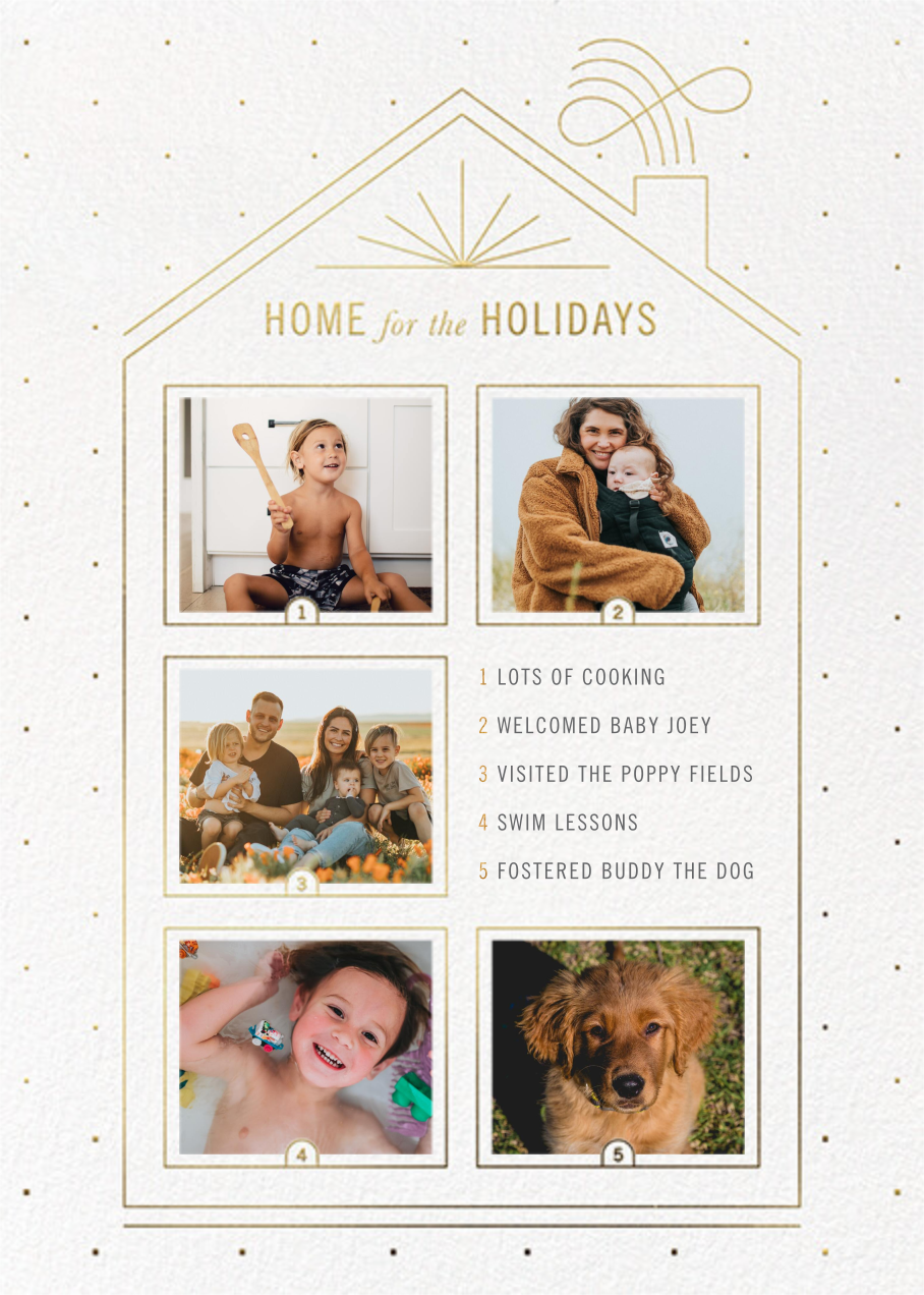 Five Windows - Paperless Post - Holiday cards