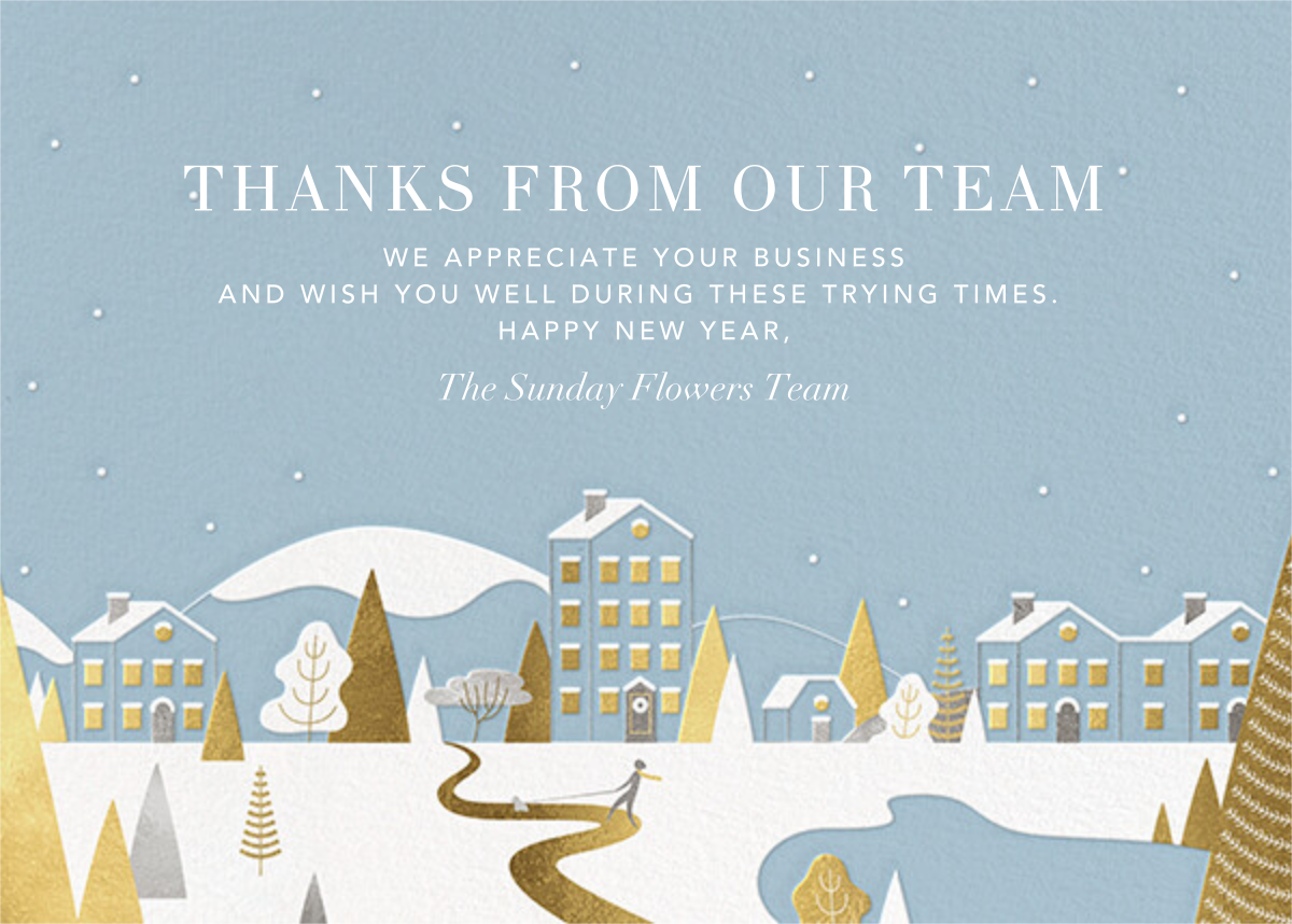 Winter Horizon - Paperless Post - Business holiday cards