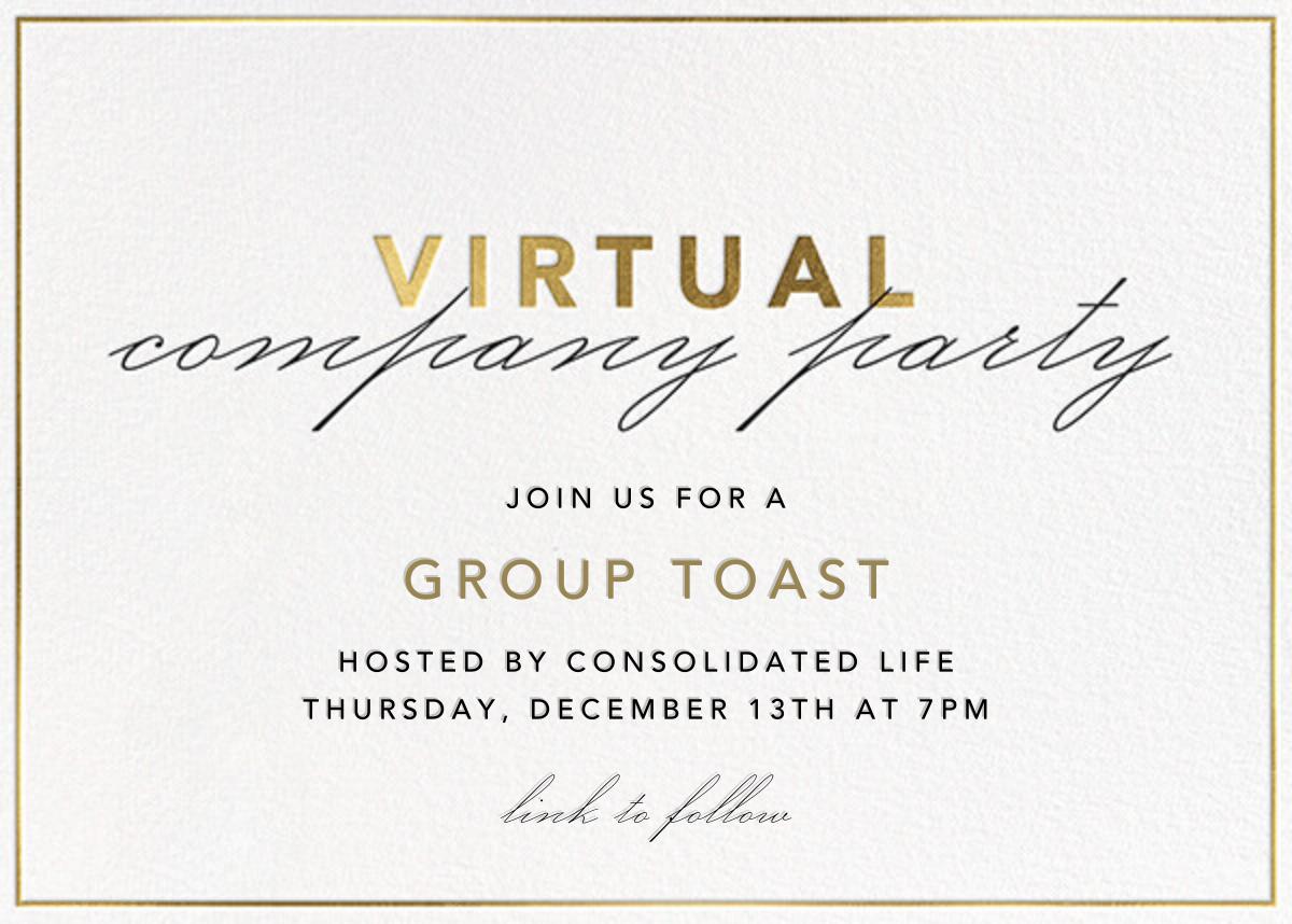 Shining Gold - Virtual - Paperless Post - Corporate invitations