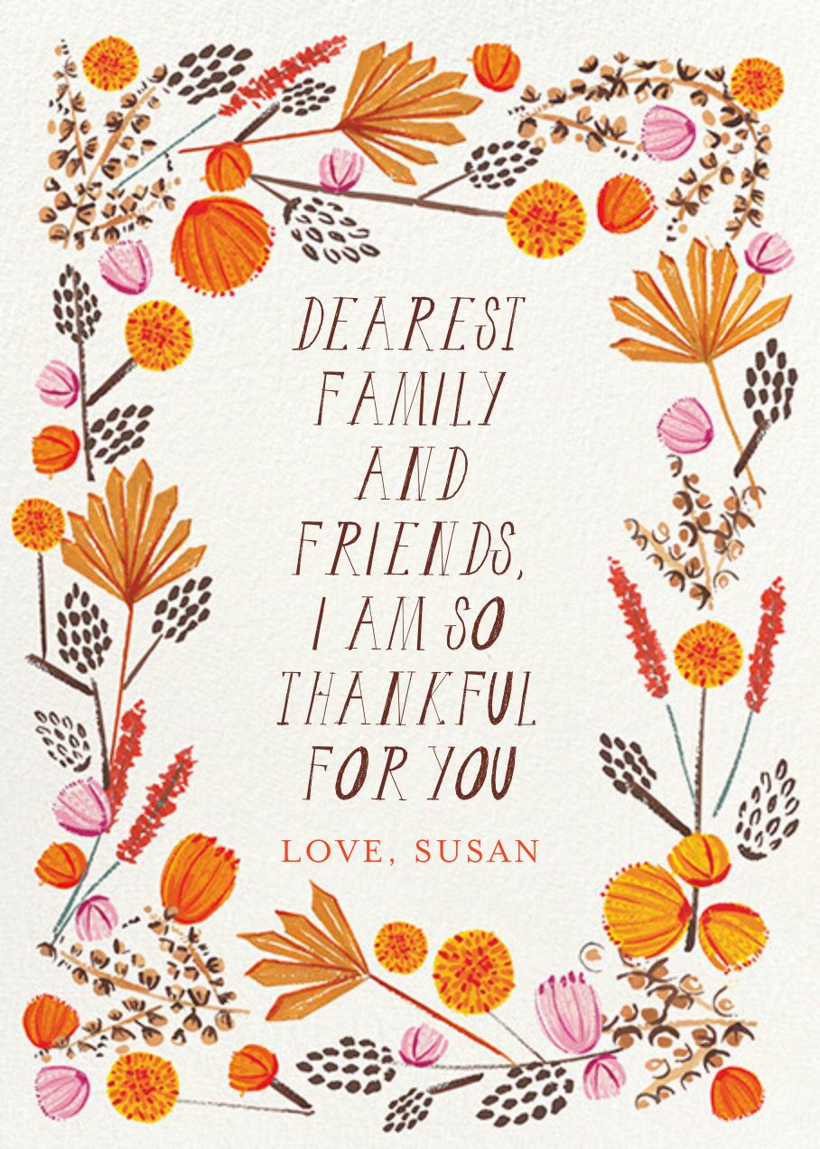 Autumn Foliage - Greeting - Mr. Boddington's Studio - Thanksgiving