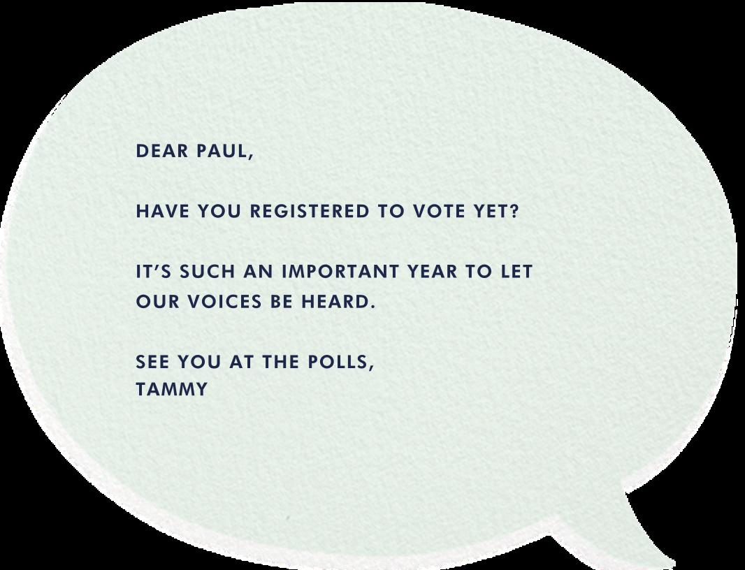 Vote Bubble - Hello!Lucky - Political action - card back