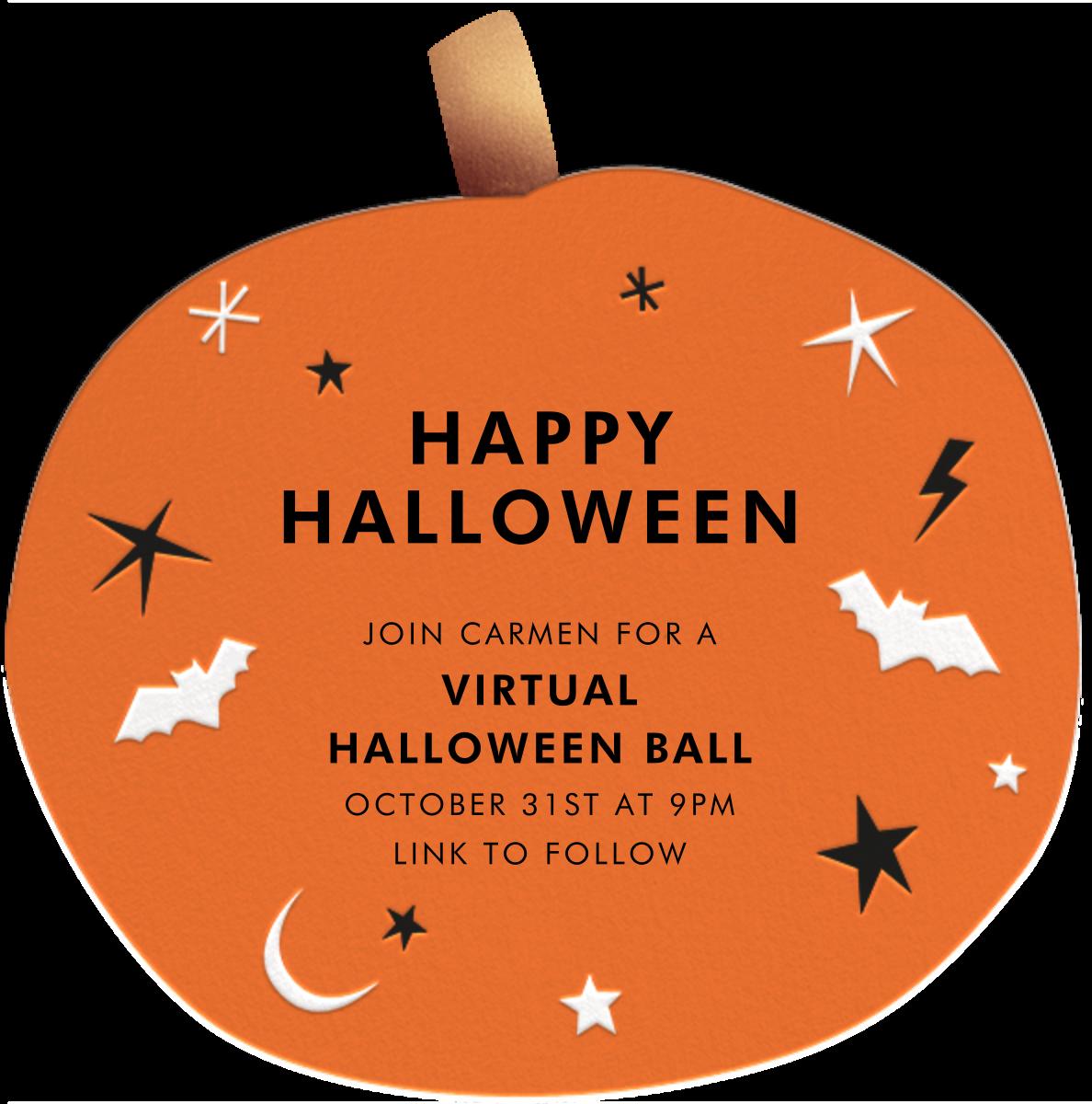 Goofy Pumpkin - Meri Meri - Halloween - card back