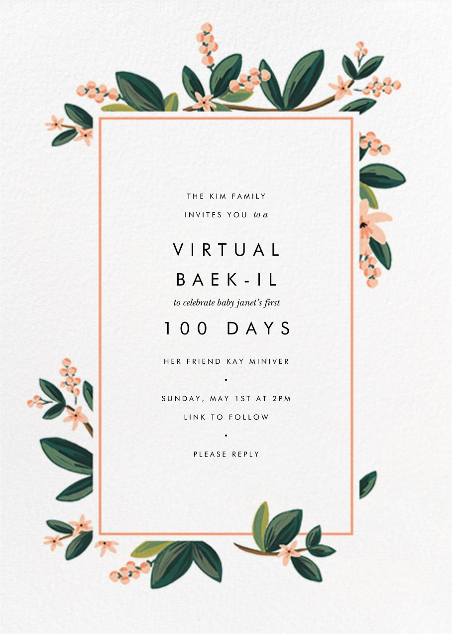 November Herbarium - Rifle Paper Co. - 100 day celebrations